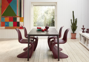 Panton Chair Plate Dining Table