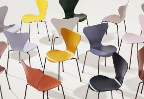 Fritz Hansen Arne Jacobsen Die Serie 7 3107 Stuhl Esszimmer